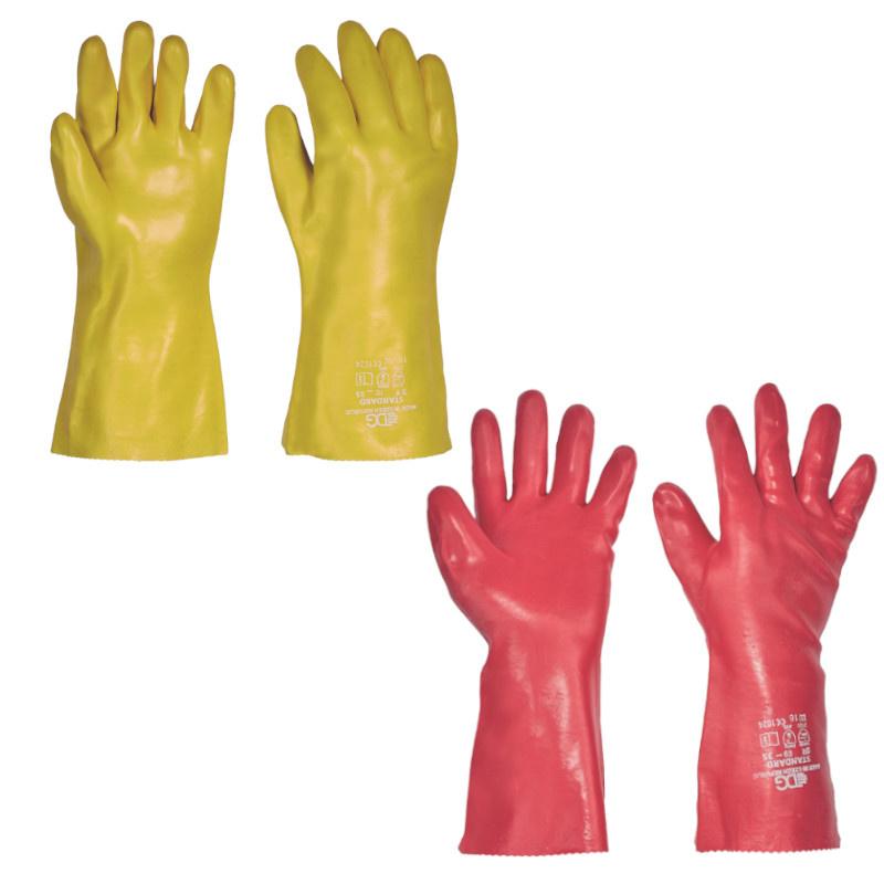 STANDARD rukavice PVC odolné kyselinám