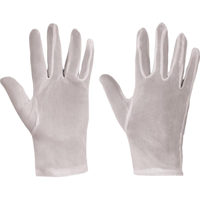IBIS rukavice textilní nylonové bílé