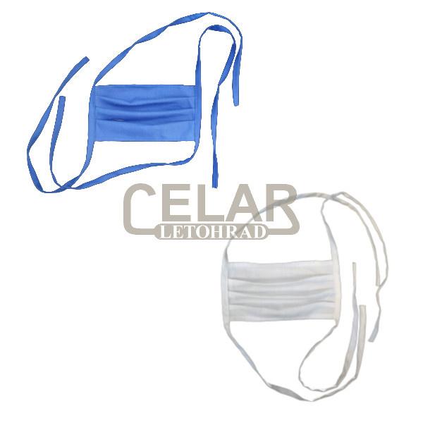 Rouška bavlněná ústenka pratelná bílá/modrá
