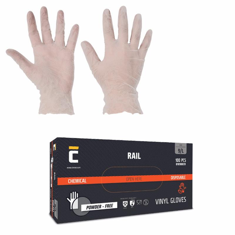 RAIL NON rukavice jednorázové vinyl nepudrované