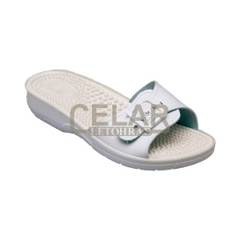 SANTÉ SI/03C Pantofle dámské - BÍLÁ