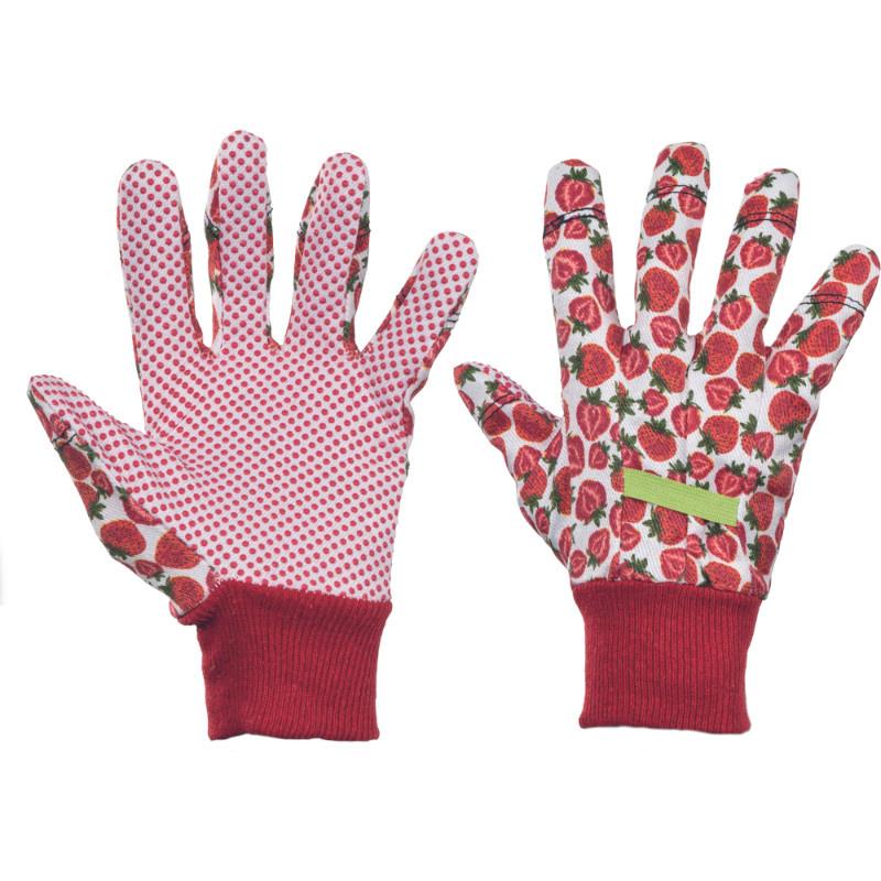 FRESH FRUIT KIXX rukavice ba PVC terčíky - červená - 8
