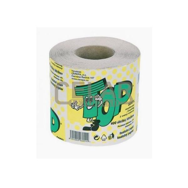 TOP toaletní papír 400 útržků 1-vrstvý