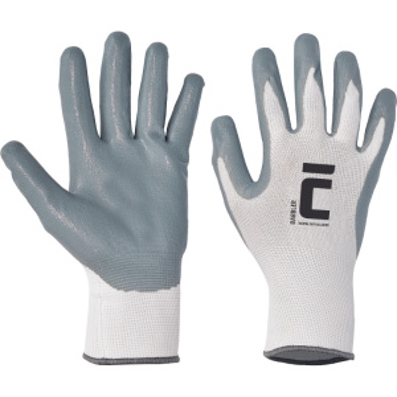 BABBLER rukavice nylon úplet+šedý nitril