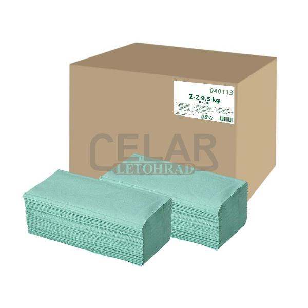 Z-Z papírový ručník skládaný 1-vrstvý ZELENÝ (5000ks)