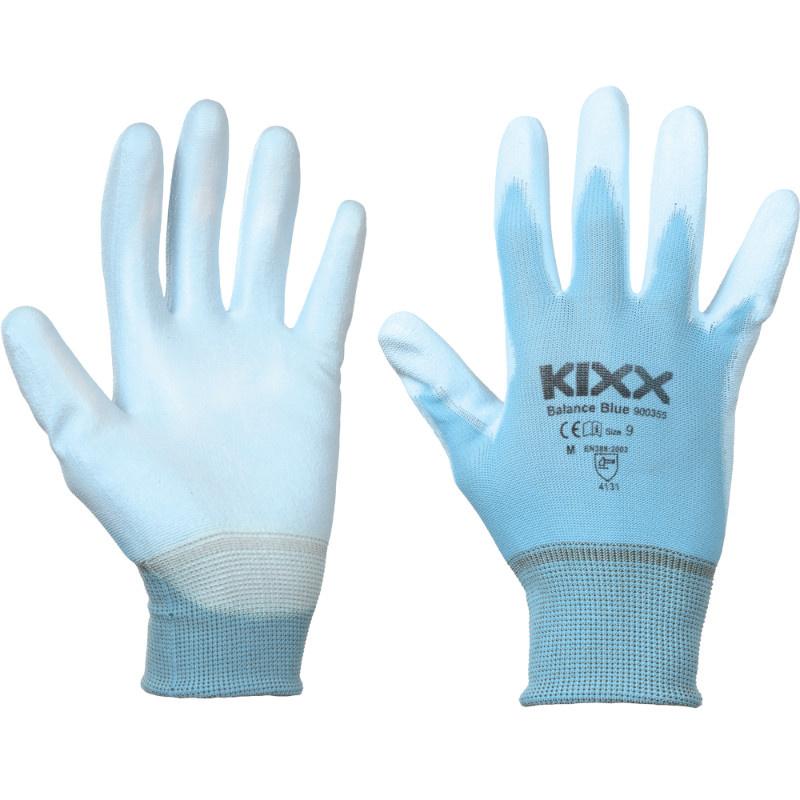 BALANCE BLUE KIXX rukavice nylonové - nebes.modrá