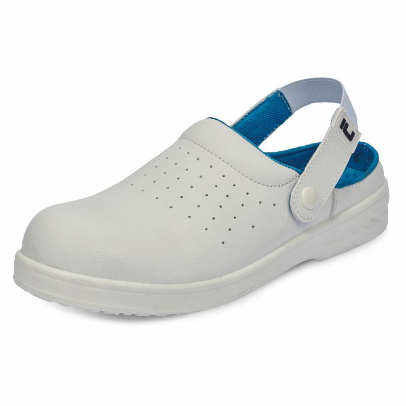 RAVEN WHITE SLIPPER SB SRC sandál bezpečn.