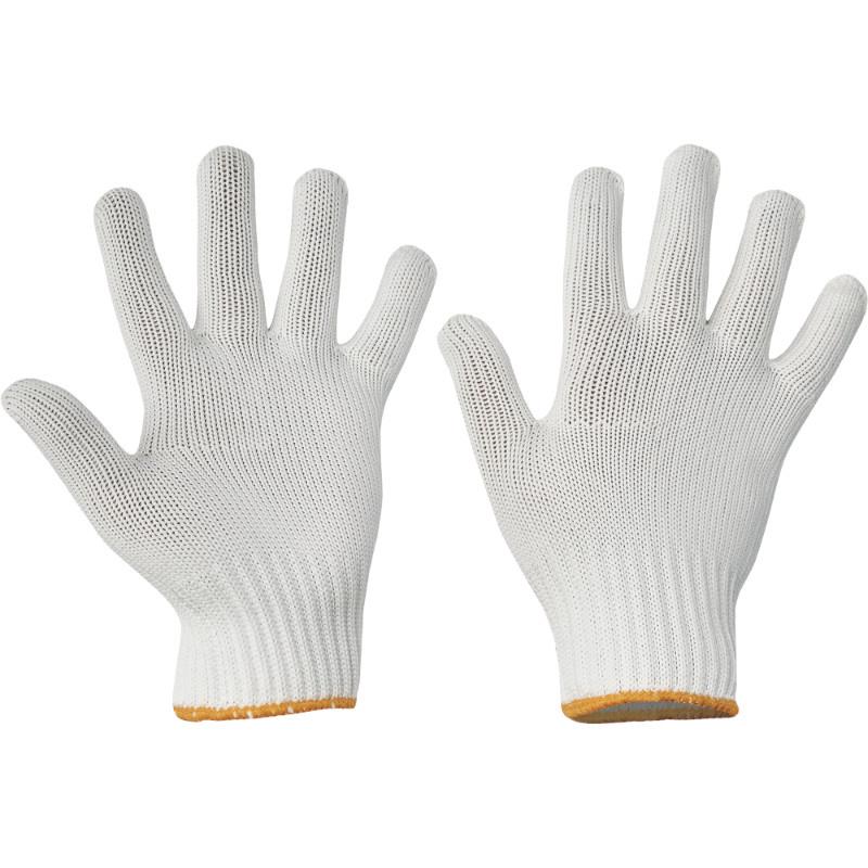SKUA rukavice bezešvé nylon/bavlna bílé