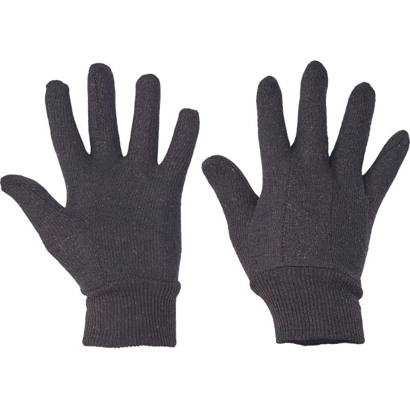 FINCH rukavice bavlněná hnědá teplákovina