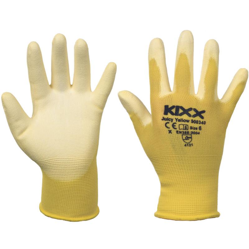 JUICY YELLOW KIXX rukavice nylonové - žlutá