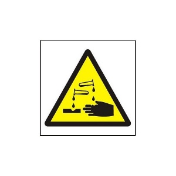 Symbol - riziko koroze 105x105mm - samolepka