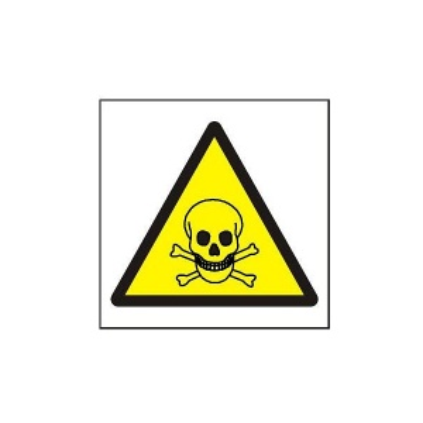 Symbol - riziko toxicity  - 105x105mm samolepka