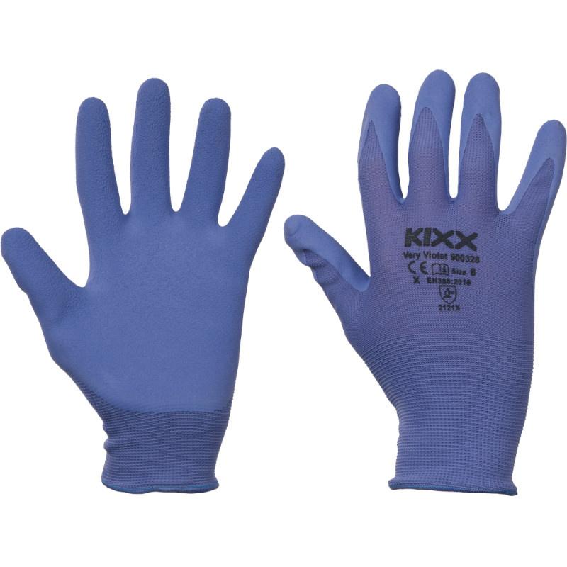 VERY VIOLET KIXX rukavice nylon/latex - fialová - 8