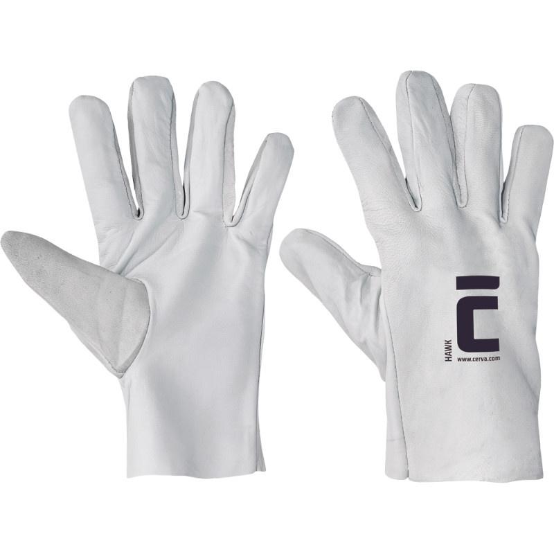 HAWK rukavice celokožené kozinka