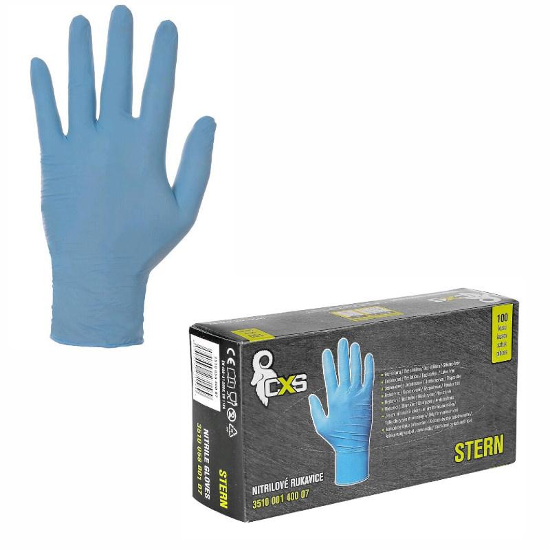 STERN rukavice jednorázové nitril nepudrované