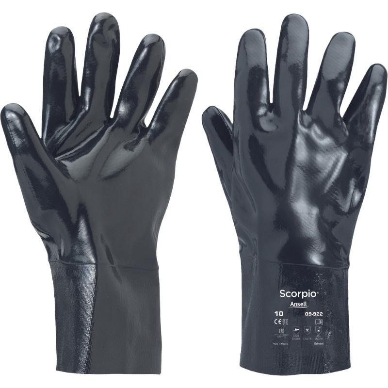 SCORPIO 09–922 rukavice pletené latex - černá -10
