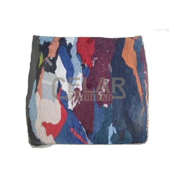 Textilie 10kg barevné lisované, čisticí hadry, savý materiál