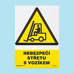 Nebezpečí střetu s vozíkem 210x297mm - plast