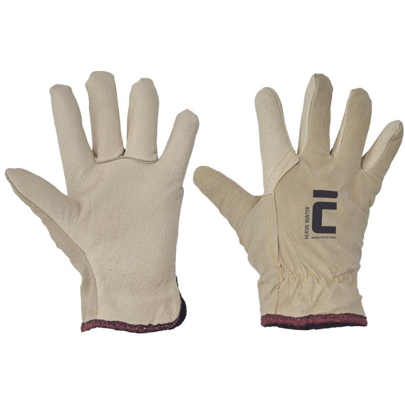 HERON WINTER rukavice celokožené