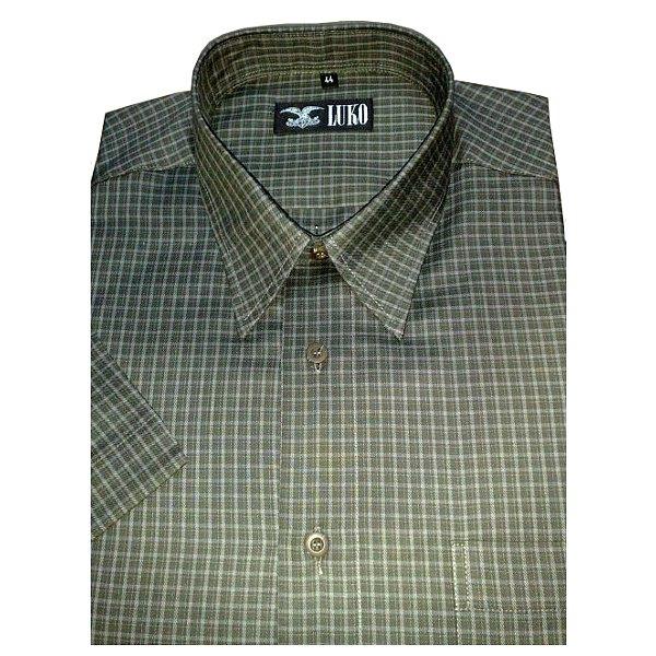 Košile s kr.rukávem kostička 100%BA