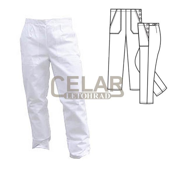 (0470) kalhoty dámské lékařské,zapín.bok