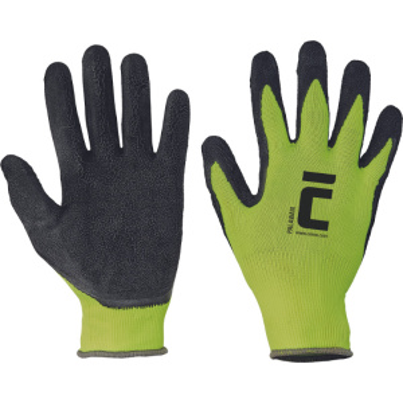 PALAWAN  rukavice nylon úplet s latexem