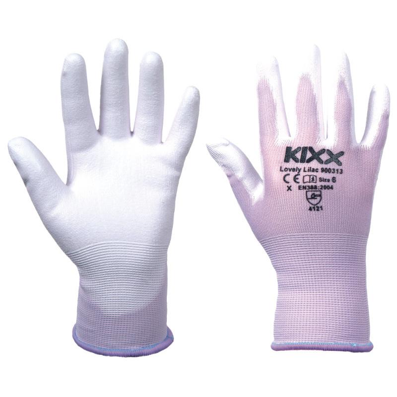 LOVELY LILAC KIXX rukavice nylonové - sv.fialová