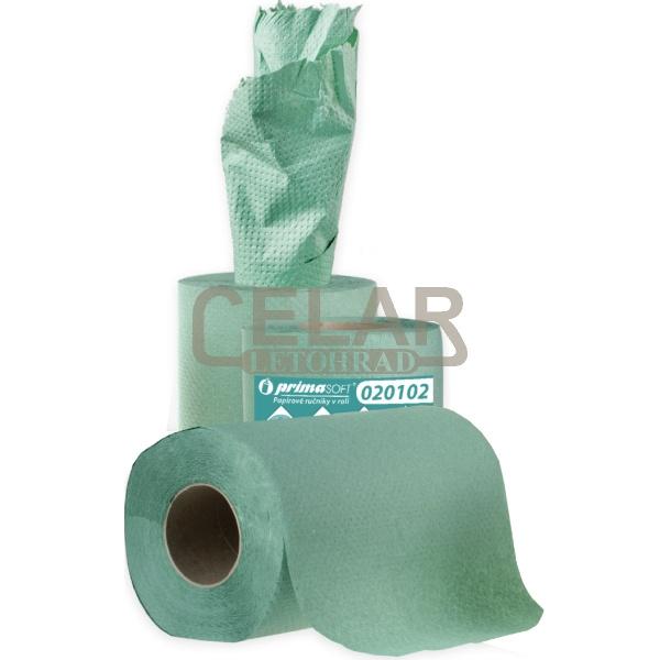 MIDI 65m 1-vrstvý papírový ručník role zelený/šedý (12ks)