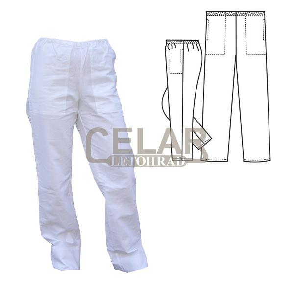 (0471) kalhoty dám.guma boč.kapsy