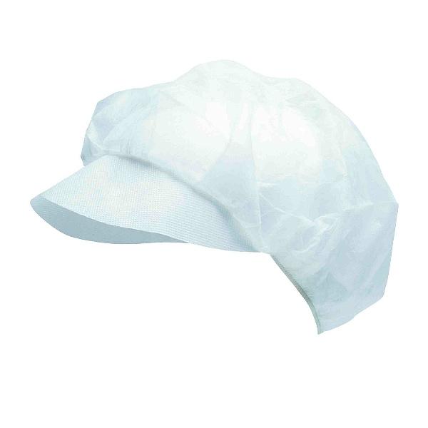 čepice jednorázová s kšiltem - bílá