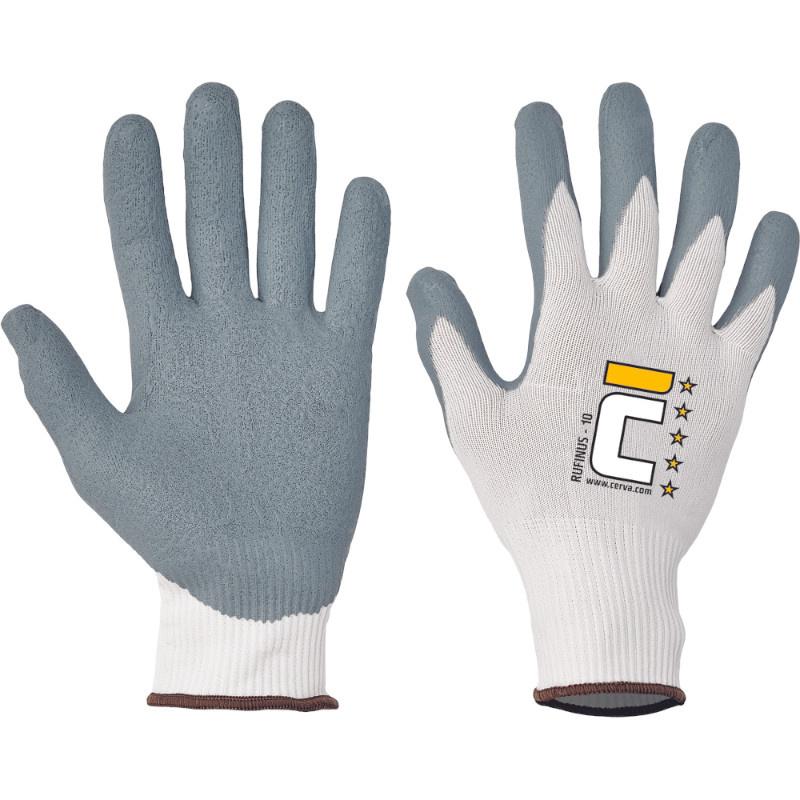 RUFINUS rukavice šedý mikroporézní nitril