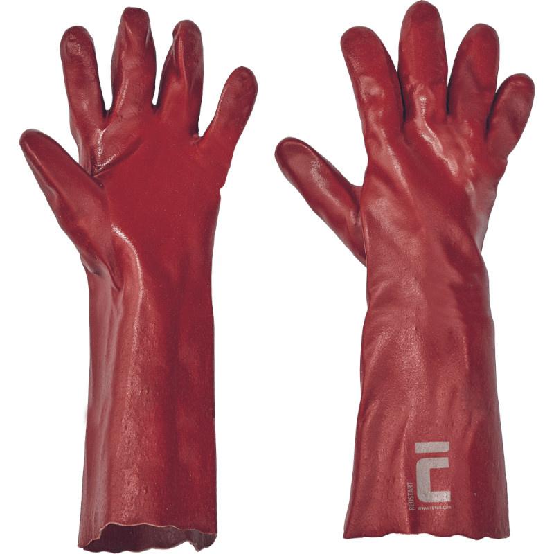 REDSTART45 ruk.ba máčené PVC červené 45cm - 10