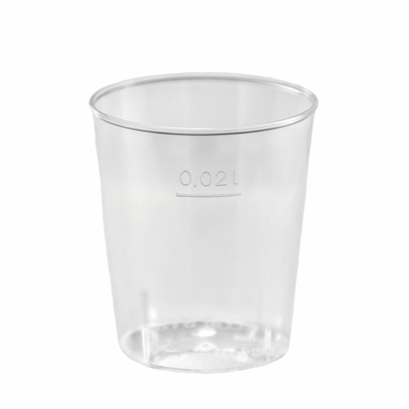 Kelímek PS krystal 0,02 l na alkohol transparentní (50ks)