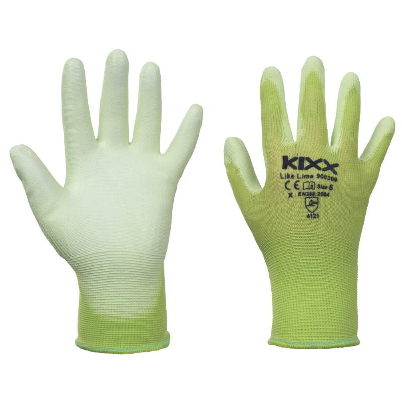 LIKE LIME KIXX rukavice nylonové - zelená
