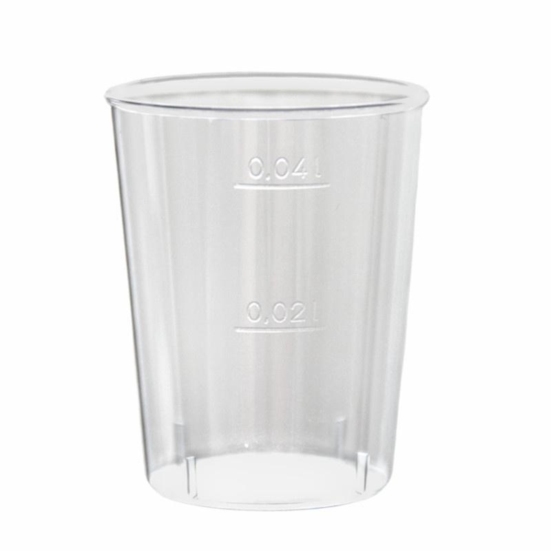 Kelímek PS krystal 0,04 l na alkohol transparentní (50ks)
