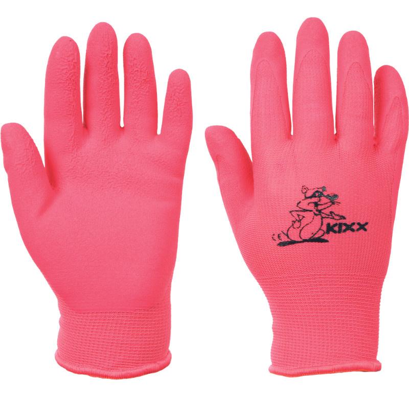 LOLLIPOP KIXX rukavice bavlněné s PVC terčíky - růžová