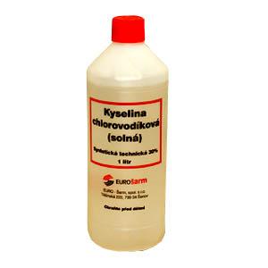 Kyselina solná (chlorovodíková) 31% 1l syntetická technická