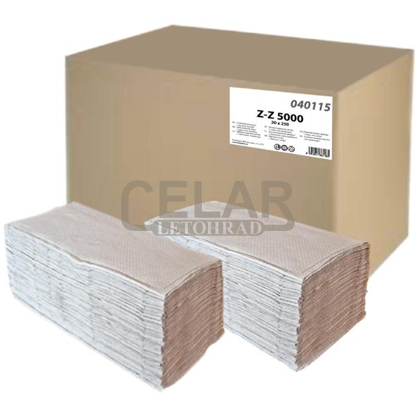 Z-Z papírový ručník skládaný 1-vrstvý ŠEDÝ (5000ks)