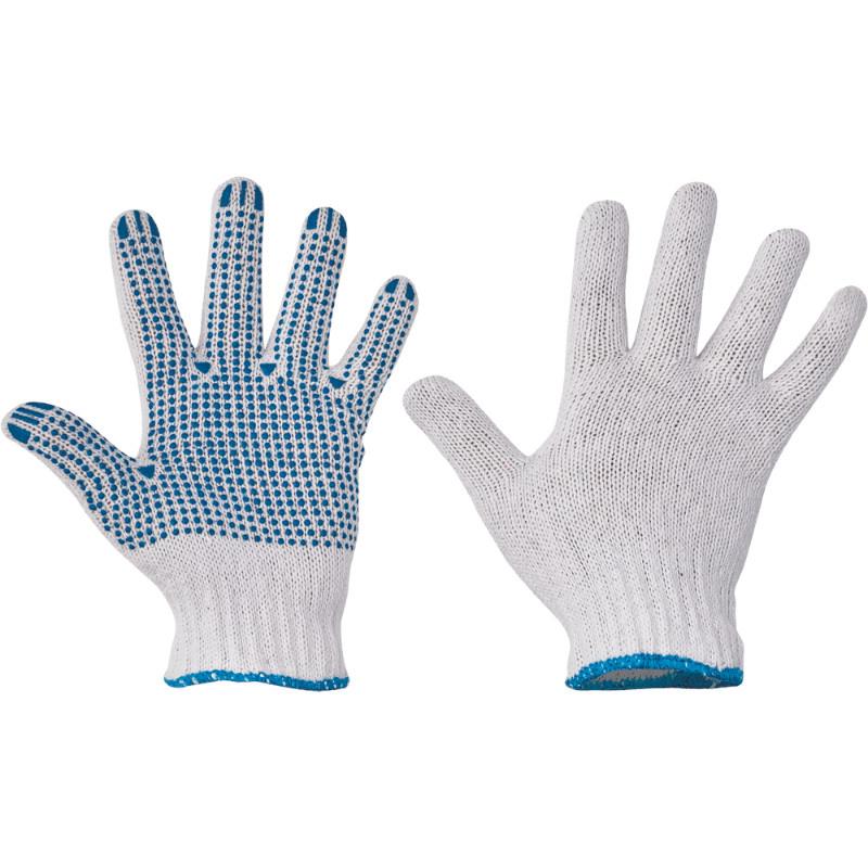 PLOVER rukavice bezešvé PVC terčíky