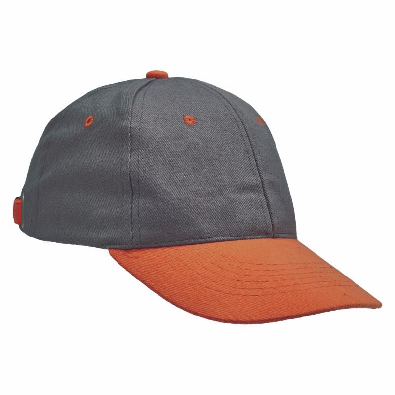 DESMAN kšiltovka baseball šedo-oranžová