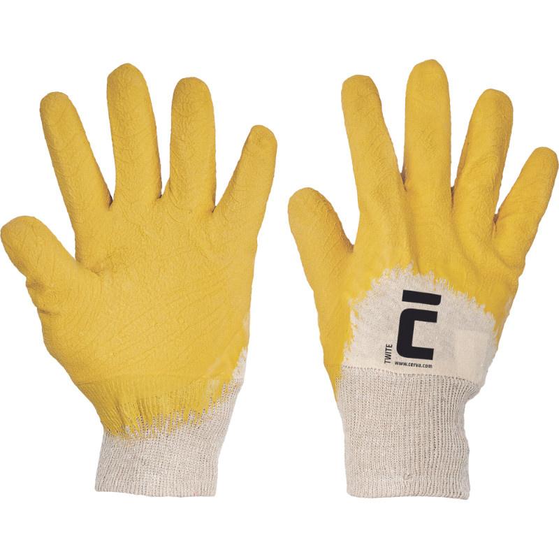 TWITE rukavice polomáčené latex protiskluz. - 10