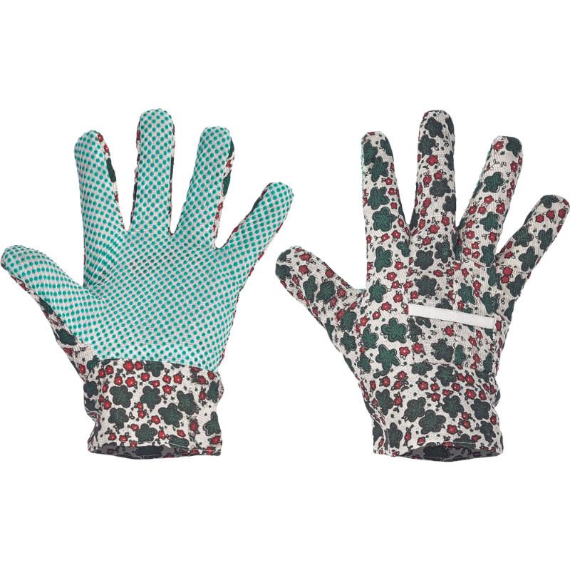 AVOCET rukavice ba dlaň a prsty PVC terčíky - 9