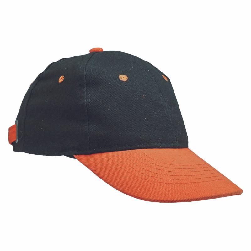 EMERTON kšiltovka baseball černo-oranžová