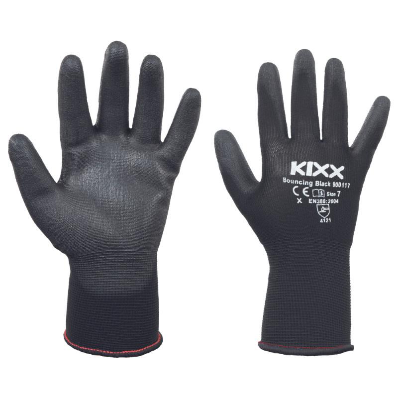 BOUNCING BLACK KIXX rukavice nylonové - černá