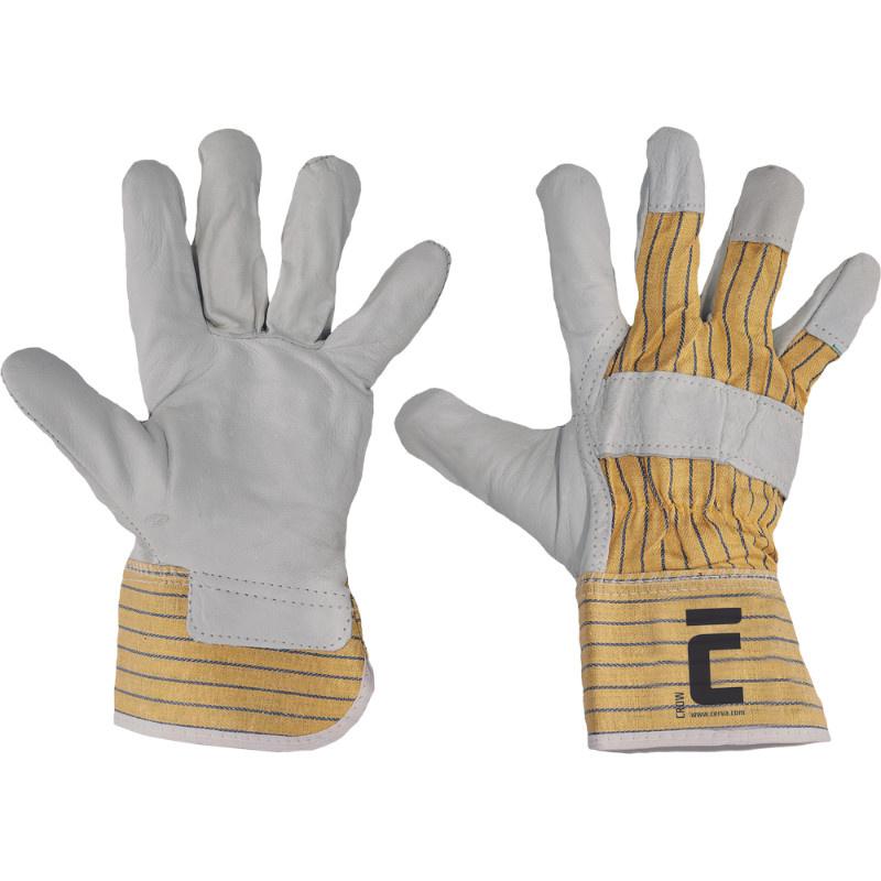 CROW rukavice kombinované z lícové hověziny - 10
