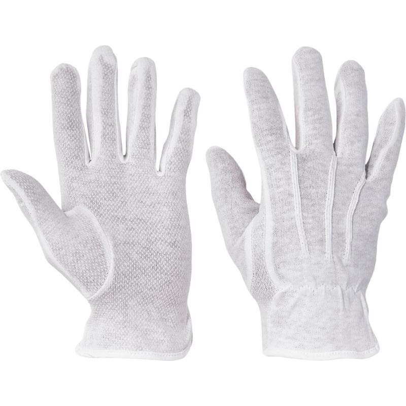 BUSTARD  rukavice ba dlaň a prsty s PVC terčíky