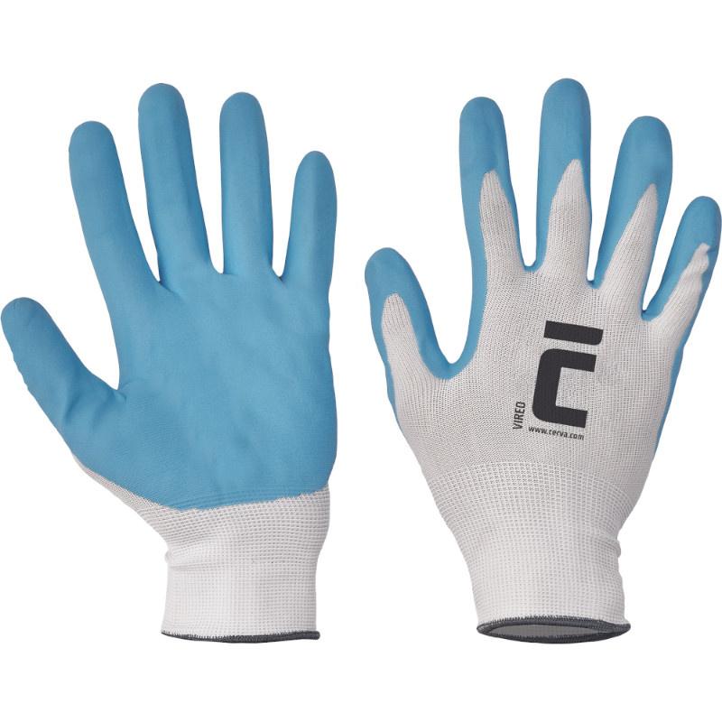 VIREO rukavice bezešvý nylon úplet s nitrilem