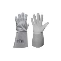 TIGER rukavice celokož.kozinka manž.15cm