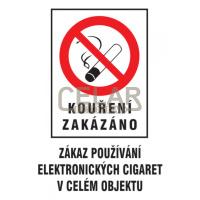 Kouření zak.-Zákaz použ.el.cig.v cel.obj.210x297mm plast