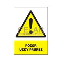 Pozor - úzký průřez 210x297 mm - plast